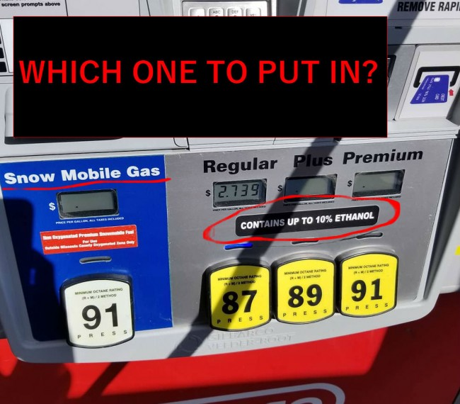 What gas to use in snowmobile?